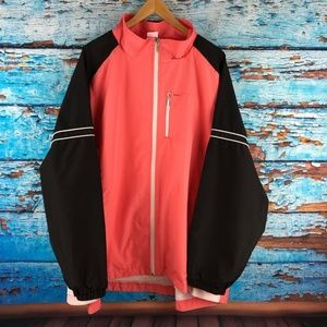 JMS JUST MY SIZE SHAPED FIT Pink Black Jacket